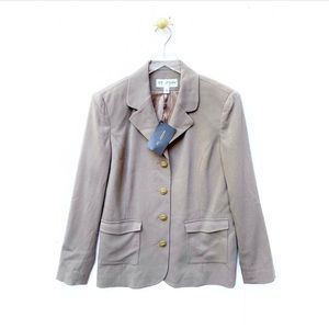 st. john collection / beige nwt new blazer jacket